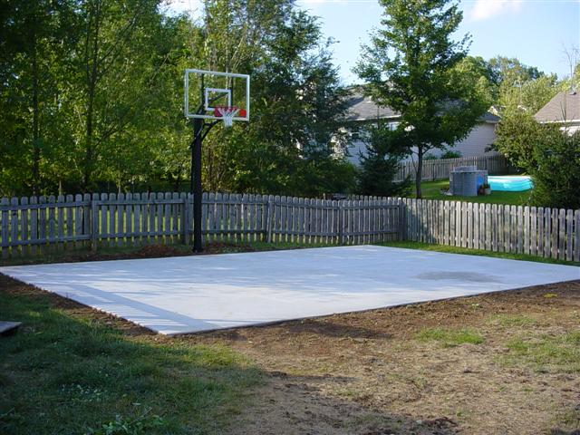 Small Basketball Court In Backyard : The court is all finished!!!